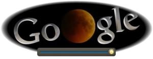 Eclipse de Lune sur Google