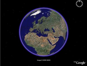 Mappemonde-Google Earth